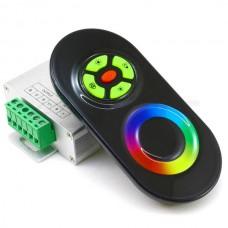 Контроллер 12В RGB 18А RF полусенсорный Чёрный