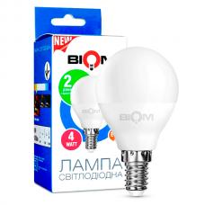Светодиодная лампа BIOM 4W E14 3000K G45 (Шар) BT-545