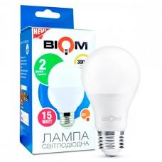 Светодиодная лампа BIOM 15W E27 3000K А65 (Груша) BT-515