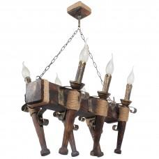 Люстра подвесная 6 свечей Е14 серии Fakel Джут 160726