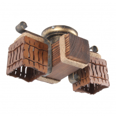 Люстра потолочная 2 плафона Е14 серии MINI шуба 163312 пот