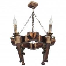 Люстра підвісна 4 свічки Е14 серії Fakel Джут 450724