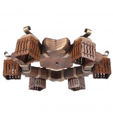 Люстра стельова 6 плафонів Е14 серії MINI шуба 463316 піт