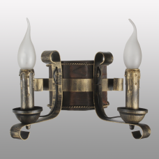Бра настенное 2 свеча Е14 серии Ковка Свеча 680322