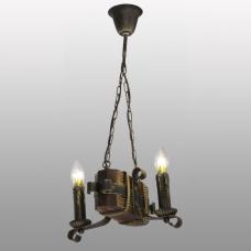 Люстра подвесная 2 свечи Е14 серии Ковка Свеча 690322