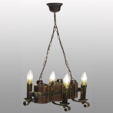 Люстра подвесная 4 свечи Е14 серии Ковка Свеча 690324