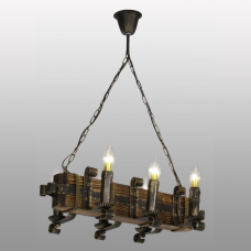 Люстра підвісна 6 свічок Е14 серії Кування Свічка 690326