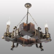 Люстра підвісна 4 свічки Е14 серії Кування Свічка 770324