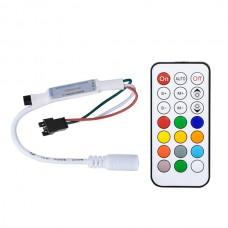 SMART RGB контролер PROLUM IR 21 key 1024px 5-24V S2812B; WS2811; WS2813; 6803; USC1903