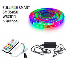 Набір 3в1 BIOM SMART FULL RGB LED 5 метрів SMD5050-60 IP20 IR