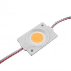 LED модуль СОВ-led 2.4 Вт Рожевий 12В, IP65 без лінзи
