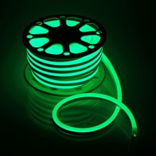 LED Neon 2835-120 220V IP68 8x16 Премиум Зелёный