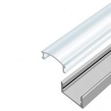 Профіль алюмінієвий накладний анодований з прозорим розсіювачем BIOM ЛП-7A + LC-U ( набір 1м)