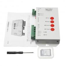 SMART RGB контроллер PROLUM T1000S 2048pixel программируемый 5-24V WS2812B; LPD8806; 6803; WS281 + карта SD