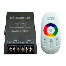 Контроллер 12В RGB 30А RF сенсорный Белый