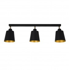 Люстра стельова Atma Light серії Cassel L130-660-3 BlackMGold