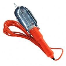Переносной светильник с выключателем и крюком 5м Е27 металл