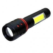Світлодіодний ліхтарик Vargo VL662, 1LED + Бічне світіння COB, zoom, вбудований акумулятор