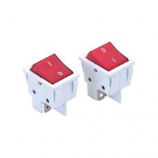 Кнопка для удлинителя DE-PA красная с подсветкой и клеммой 16А