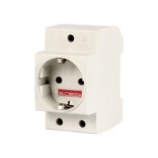 Розетка с заземлением на DIN-рейку 16A E-Next e.socket.pro.din.tms