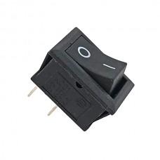 Кнопка АВаТар вузька 1-я 2 контакту маленька чорна без підсвічування 6А(при 220В)