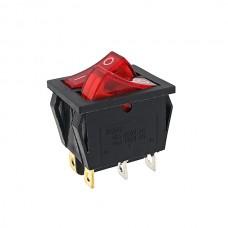 Кнопка АВаТар 2-я 6 контактів червона з підсвічуванням 16А(при 220В)