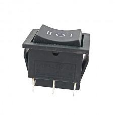 Кнопка АВаТар широкая 1-я черная 3 положения 6 контактов без подсветки 15А(при 220В)