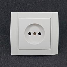 Розетка одинарна внутрішня Yaweitai YW-2505 Біла