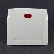 Вимикач одинарний внутрішній з підсвічуванням Yaweitai YW-2501 Білий