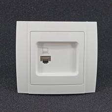 Розетка одинарна інтернет внутрішня Yaweitai YW-2507N Біла