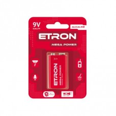 Батарейка ETRON Mega Power 9V 6LR61 Blister Alkaline 1шт