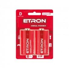 Батарейка ETRON Mega Power D LR20 Blister Alkaline 2 шт