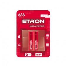Батарейка ETRON Mega Power ААА-LR03 Blister Alkaline 2 шт