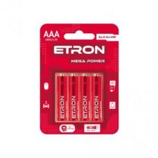 Батарейка ETRON Mega Power ААА-LR03 Blister Alkaline 4 шт