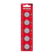 Батарейка ETRON Lithium Power CR2025 3V Blister 5 шт