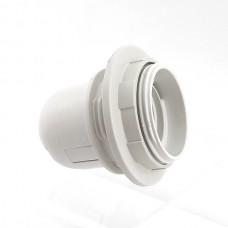 Патрон ABaTap Е27 з спідницею пластиковий стопорне кільце