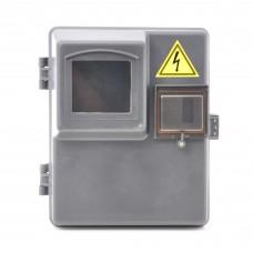 Герметичний Бокс ДИМБОР під 1 фазний мех. лічильник і 3 авт. вимикач IP44