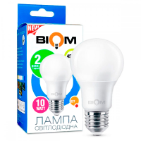 Светодиодная лампа BIOM 10W E27 4500K А60 (Груша) BT-510