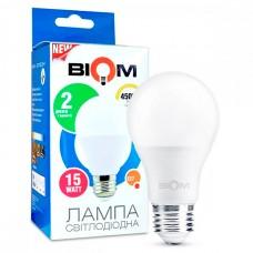 Світлодіодна лампа BIOM 15W E27 4500K А65 (Груша) BT-516
