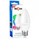 Светодиодная лампа BIOM BT-568 C37 7W E27 4500K (Свеча)