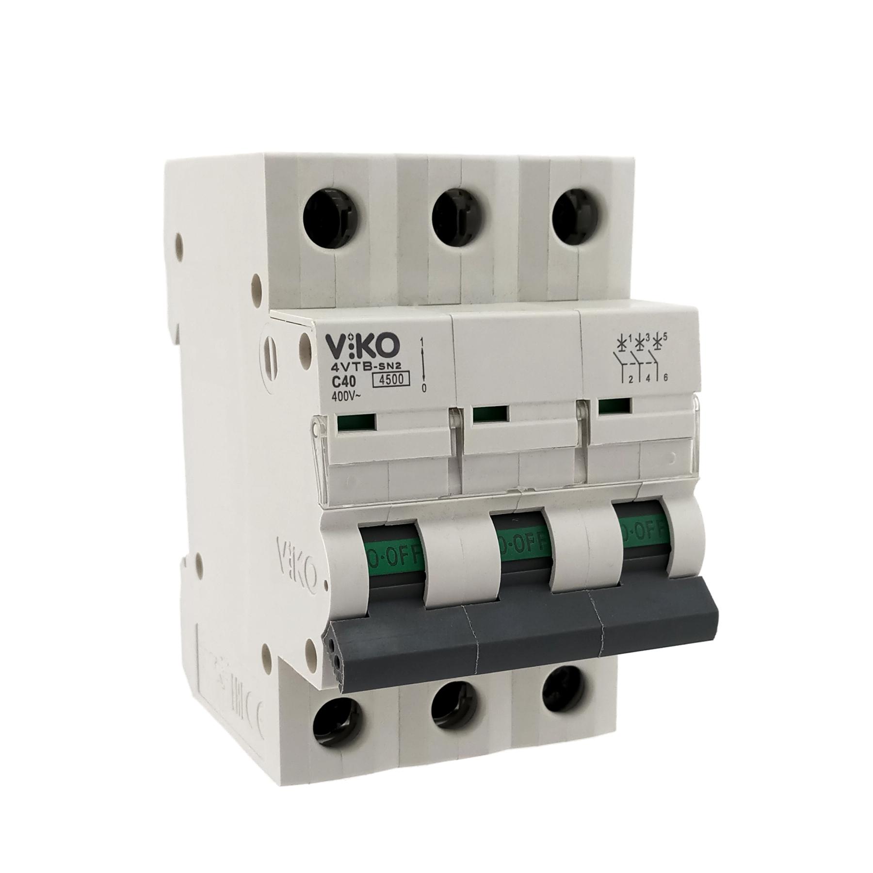 Автоматический выкл. VIKO 3P 40A 4.5кА 230/400В тип С