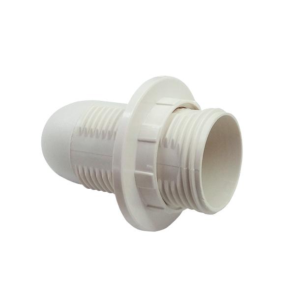 Патрон электрический Е14 с кольцом пластик