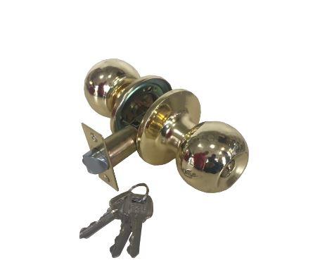 Замок врезной FZB 607 Джанес с ключем PB Золото